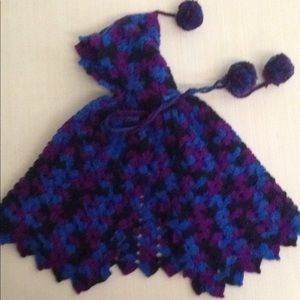 Other - 💙 3-6 month Crocheted poncho with hood